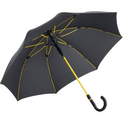 Reklaminis skėtis ryškiu stiebu ir riesta rankena MR10