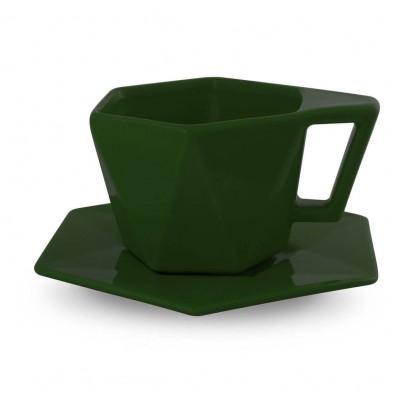 Išskirtinio dizaino puodelis su lėkštute