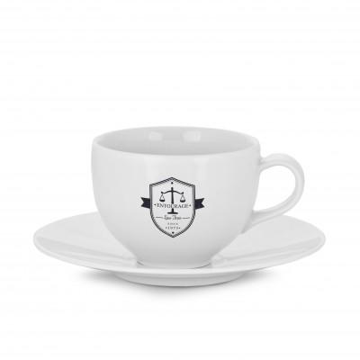Reklaminis puodelis su lėkštute PL17