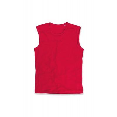 Reklaminiai vyriški sportiniai marškinėliai be rankovių ST6