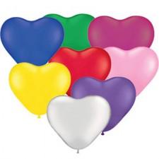 Širdelės formos balionai su reklamine spauda