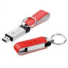 USB atmintinės su odos elementais, logotipu, užrašu